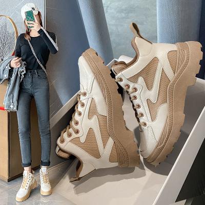 思可圖(SIKETU) 秋季軟底耐磨女士馬丁靴 女韓版潮流透氣機車靴短筒厚底短靴子