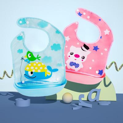 寶寶吃飯圍兜嬰兒童防水立體仿硅膠食飯兜圍嘴大號小孩口水兜