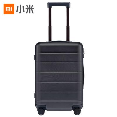 小米(MI)拉杆箱 高弹性万向静音轮旅行箱 TSA海关锁简约商务登机箱 黑色 20英寸