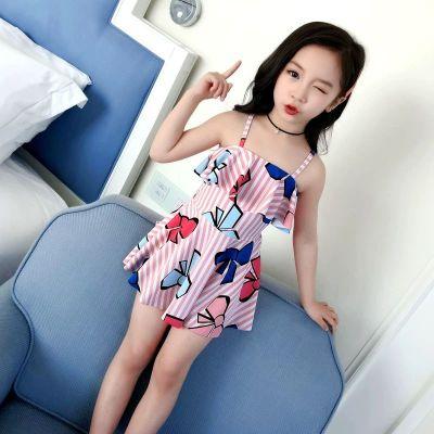 小學生泳衣女孩中大童分體比基尼可愛公主韓版大碼兒童游泳裝 威珺