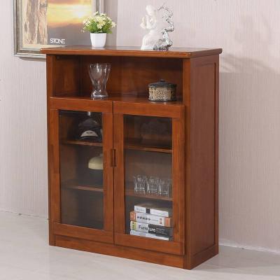 现代简约 家用客厅实木高档玻璃红酒柜定制多功能新中式小餐边柜