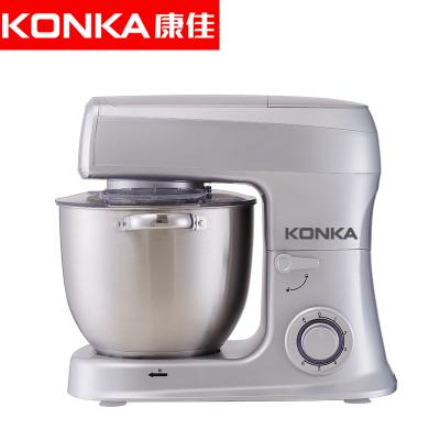 康佳(KONKA)KM-905厨师机家用全自动多功能和面机揉面机搅拌机打蛋器料理机打奶油机电子式旋钮式 闪亮银三合一