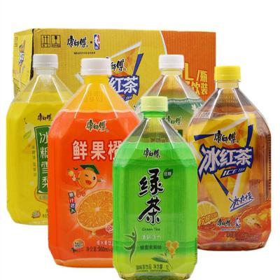 康師傅水蜜桃鮮果橙冰紅茶茉莉蜜茶冰糖雪梨1000ml*2瓶飲料 冰紅茶2瓶