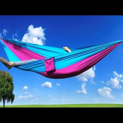 科降落傘布蚊帳吊床戶外雙人便攜單人學生宿舍寢室室外掉床秋千