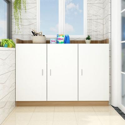简易柜子阳台储物柜定制定做收纳柜经济型防晒家用多功能现代简约 长120高100宽60三门3层