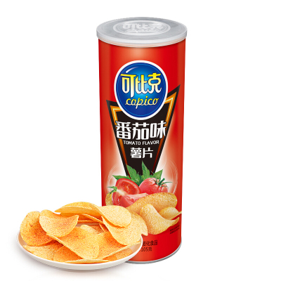 可比克 膨化食品 番茄味薯片105g(休閑零食)
