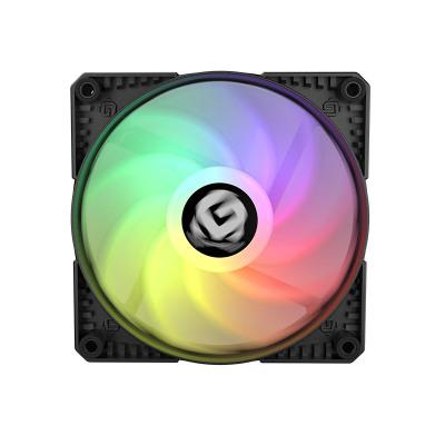 寧美國度 N系列臺式電腦主機超靜音風扇 LED炫光12CM機箱散熱風扇 N3幻光