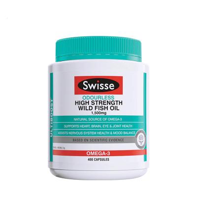澳洲進口Swisse瑞思野生魚油軟膠囊 1500mg 400粒 1瓶裝 高濃度深海無腥味魚油/深海魚油 搭配卵磷脂