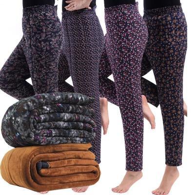 中老年女士駝絨棉褲三層加絨加厚款高腰大碼保暖褲羊毛褲線褲冬季 臻依緣
