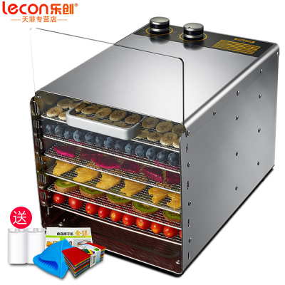 樂創(lecon) 水果烘干機 食品烘干機 干果機 藥材蔬菜寵物食品肉類風干機 家用果蔬機 6層玻璃門旋鈕款