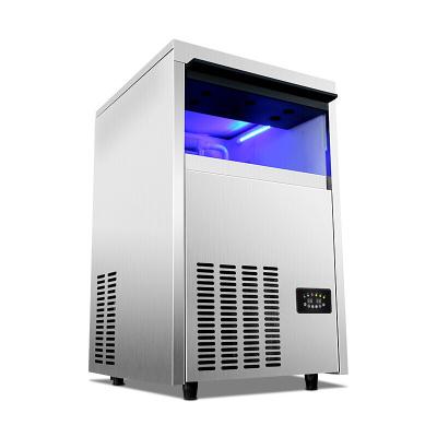 lecon/乐创洋博 商用大型制冰机55kg公斤蓝光方冰制冰机 商用制冰机全自动