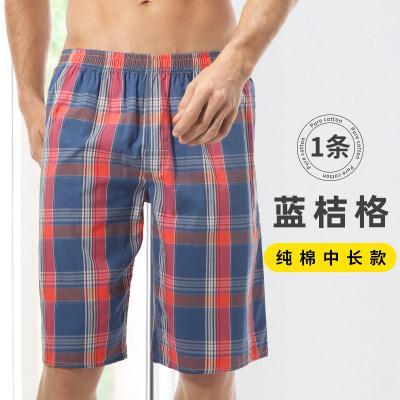 七匹狼居家大褲衩子男睡覺休閑夏天外穿睡褲冰絲老年五分短褲純棉