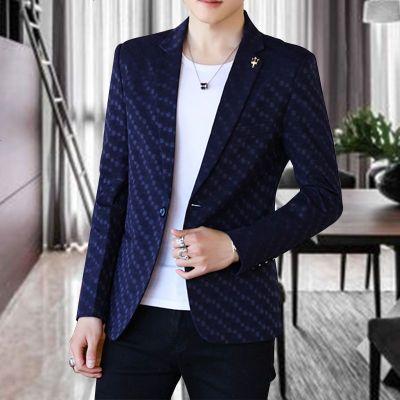 春秋季休闲西服男士修身帅气青年小西装外套潮流单西上衣薄款