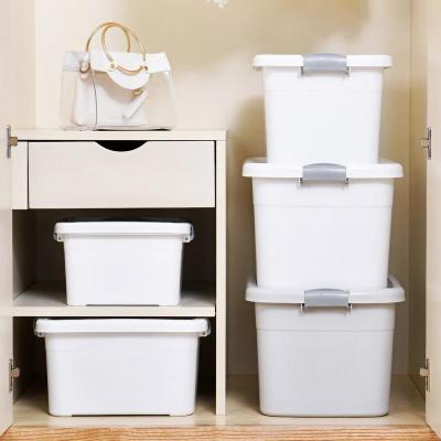 朔料儲衣箱大學宿舍收納盒整理箱衣服被子儲藏衣盒寶寶衣存儲物品弧威