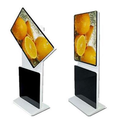 悅華科技 47寸落地式旋轉廣告機 高清液晶自由分屏廣告機網絡版 可定制單機版