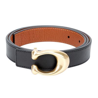 蔻馳 COACH 奢侈品 女士專柜款雙面皮質腰帶皮帶黑色配棕色 箱包配件78176 B4OH1 S