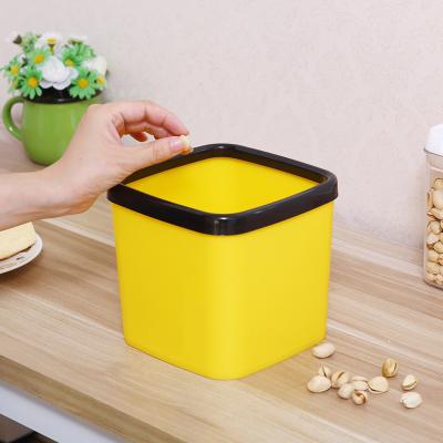 方形家用小垃圾桶無蓋桌面迷你儲物桶隨手收納桶弧威
