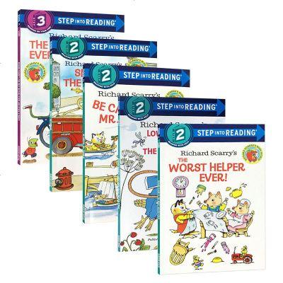 英文原版兒童繪本 Step into Reading 美國蘭登經典分級讀物 英文版 斯凱瑞系列5冊 Richard