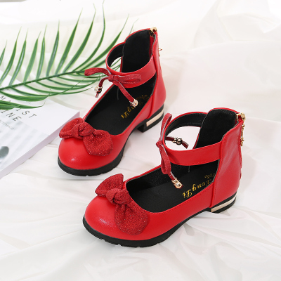 女童皮鞋2019春秋新款公主鞋小女孩童鞋儿童单鞋中大童宝宝高跟鞋