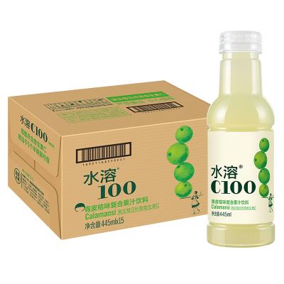 農夫山泉 水溶C100(青皮橘)混合果汁445ml*15整箱