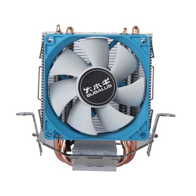 大水牛(BUBALUS)T2 CPU散熱器(支持Intel/AMD多平臺/雙導熱銅管/80mm靜音風扇/電腦主機箱風冷)