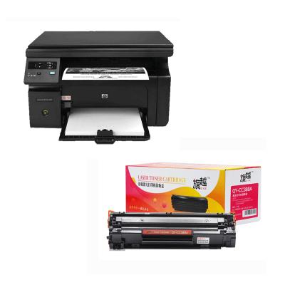 【套餐】惠普LaserJet Pro M1136黑白多功能激光一體機 打印機+旗越QY-CC388A硒鼓 88A硒鼓