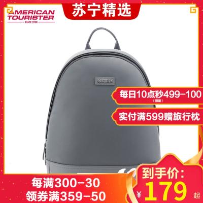 美旅 书包女时尚韩版 尼龙 拉链 双肩背包 女新款黑色旅行简约 休闲 潮个性红色小包BX8 女士双肩包