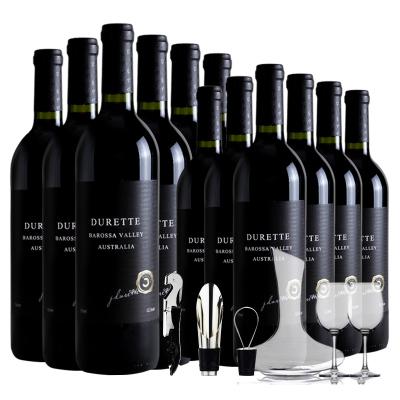 (買6瓶送6瓶)杜瑞特Durette干紅南澳巴羅薩谷原汁進口葡萄酒整箱750ml*6瓶裝