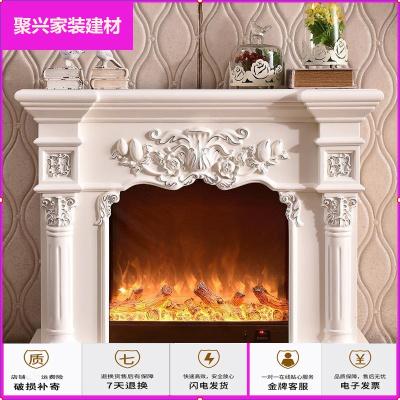 蘇寧放心購名典歐式壁爐架 白色電視柜裝飾柜電壁爐芯1米/1.2米/1.5米簡約新款