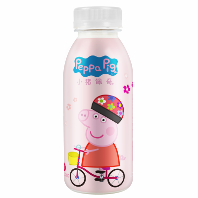 小猪佩奇乳酸菌饮品 酸奶饮料 樱花味330克*12瓶