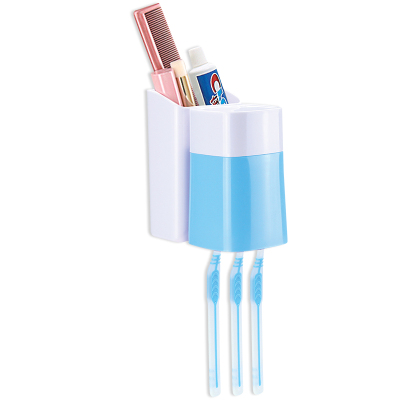 永日炫彩粘貼掛壁式洗漱杯漱口杯牙刷架組合套裝三口之家情侶刷牙牙具套裝