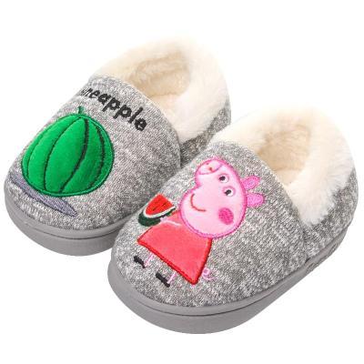 小猪佩奇 Peppa Pig 男女儿童棉拖鞋包跟1162