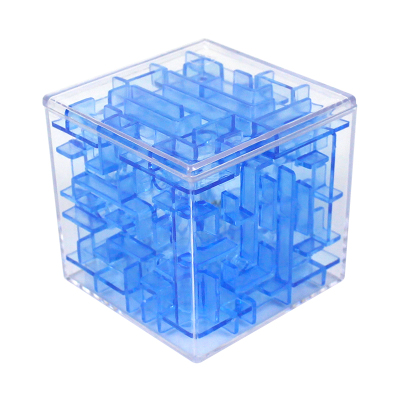 港比熊玩具迷宮魔方3D立體魔幻球走珠早教智力解減壓幼兒童玩具3-6-9歲玩具(隨機色2個)GBX8807