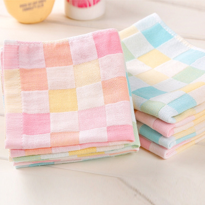 兒童方巾寶寶嬰兒口水巾純棉吸水小毛巾面巾擦手巾柔軟手帕手絹