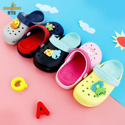 magtoe/麦可兔 双色花园鞋KM9007按摩防滑多色可选中小童 卡通动物组合夏室内外洞洞鞋男女宝宝沙滩