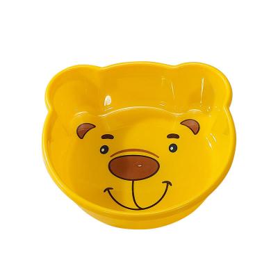 茶花卡通婴儿洗脸盆多用盆时尚加厚塑料盆新生儿宝宝脸盆 03441K(橙色)