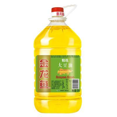 金龙鱼精选大豆油5L/维A营养强化大豆油5L 桶装食用油