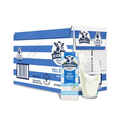 【家庭分享裝】德運(Devondale)全脂高鈣純牛奶 1L*10盒 進口牛奶 UHT 學生牛奶 箱裝奶牛奶箱裝送禮禮盒