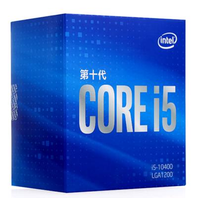 英特爾(Intel)i5-10400 酷睿六核 盒裝CPU處理器 第十代酷睿 配套Z490、B460、H410主板使用