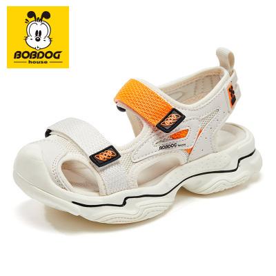 BOBDOG HOUSE巴布豆童鞋兒童涼鞋2020夏季男童女童休閑透氣防滑小學生沙灘鞋子8612