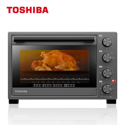东芝(TOSHIBA)电烤箱 D132A1 机械式 32L 双层玻璃门 搪瓷内胆 恒温发酵 变频台式烤箱