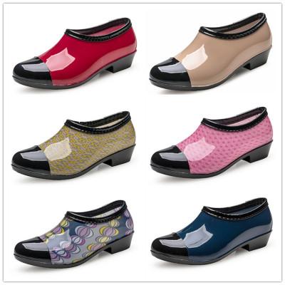 包郵春秋韓國時尚低幫雨鞋女式夏季短筒水鞋成碼雨靴防滑膠鞋