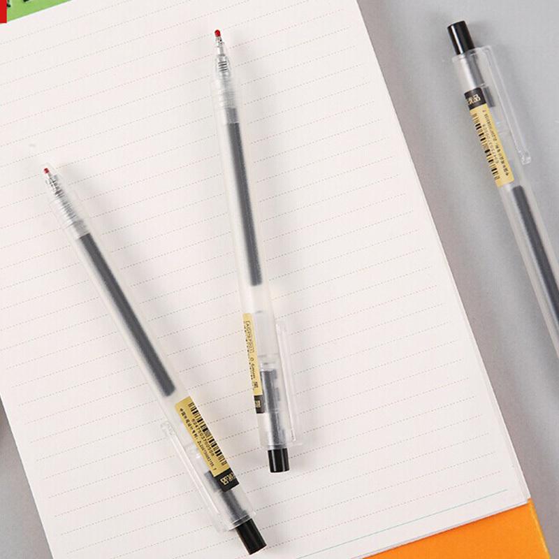 晨光(M&G)AGP87901按动中性笔 12支/盒 0.5mm磨砂杆中性笔水性笔签字笔 碳素笔水笔 红色