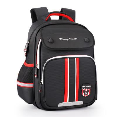 迪士尼(Disney)米奇小學生書包男女孩兒童書包1-3-6年級減負雙肩輕便背包 SM81170黑色