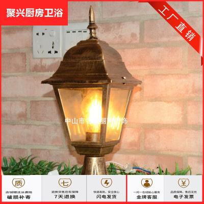 燈飾放心購直銷戶外圍墻燈防水復古別墅庭院柱太陽能燈方形鋁制簡約墻頭燈簡約新款