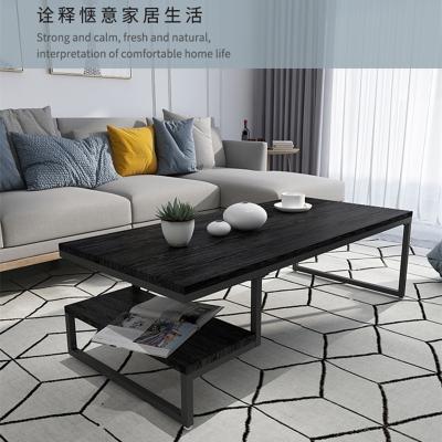 北欧轻奢现代工业风茶几北欧铁艺实木办公室客厅简约小户型小桌子