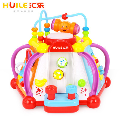 匯樂玩具(HUILE TOYS)快樂小天地 806 兒童益智早教玩具/多功能游戲臺 塑料/1-3歲
