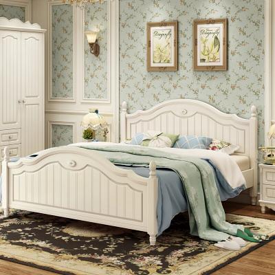 銳澳 床 韓式床田園床公主床1.5m 床歐式床雙人床1.8米 儲物床高箱床