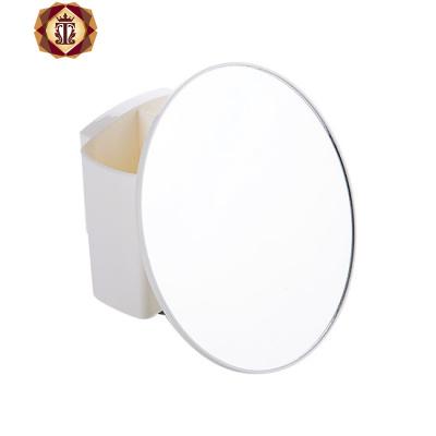 三維工匠免打孔壁掛小鏡子家用浴室掛墻帶收納盒掛鏡衛生間墻上化妝浴室鏡