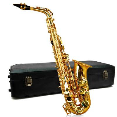 炎黄萨克斯降E调中音初学者成人儿童黄铜管乐器考级送萨克斯包